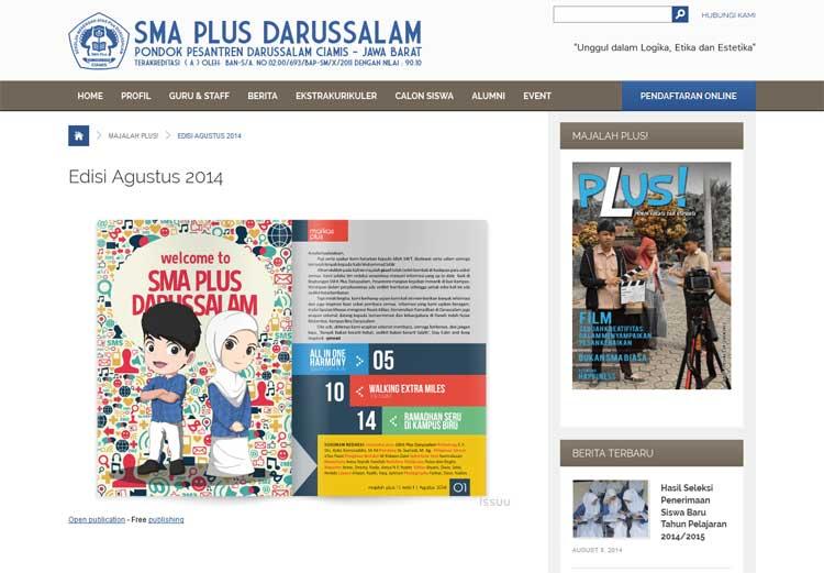 Majalah Digital SMA Plus Darussalam