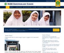 Website MAN Darussalam CIamis