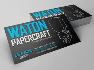 Kartu Nama Waton Papercraft