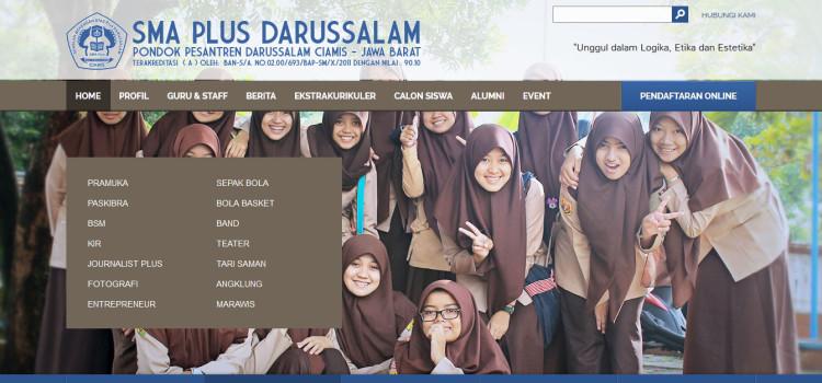 Website Resmi SMA Plus Darussalam Ciamis